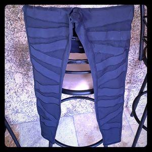 Lululemon high waisted leggings with mesh